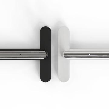 Weiss oder schwarz mit poliertem Edelstahl