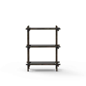 Stick System Regal 1 x 3 von Menu in Schwarz / Esche dunkel