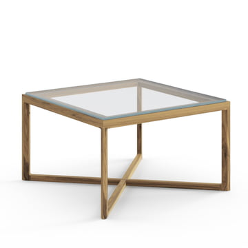 Knoll - Marc Krusin End Table, Eiche natur, Glasplatte