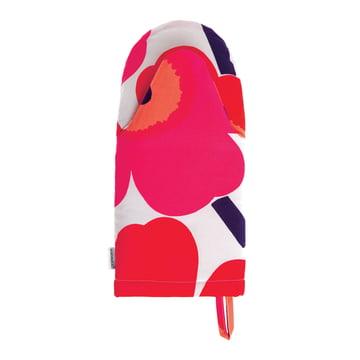 Pieni Unikko Ofenhandschuh von Marimekko in Weiss /Fuchsia /Rot