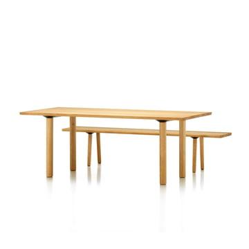 Vitra - Wood Table / Bench, Eiche massiv, 2000 mm