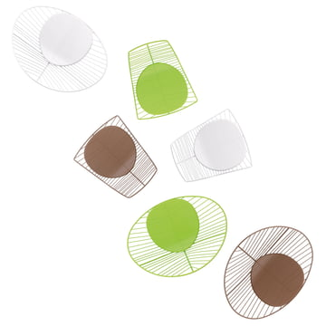 Arper -Leaf Stühle mit Sitzpolster - von oben