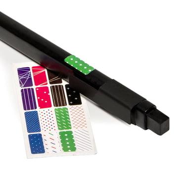 Moleskine - Klassik Kugelschreiber, schwarz - Sticker