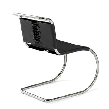 Knoll - MR Beistellstuhl, ohne Armlehnen, Rindkernleder schwarz