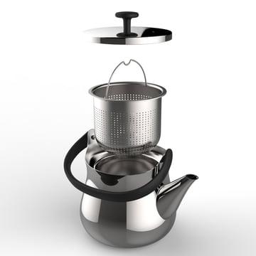 Alessi - Cha Wasserkessel / Teekanne, Einzelteile