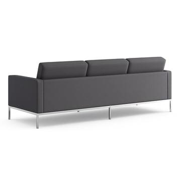 Knoll - Florence Sofa 3-Sitzer, Bezug Hopsack, charcoal