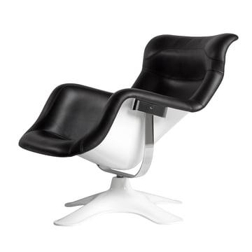 Artek - Karuselli Lounge Chair, schwarz / weiss