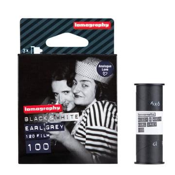 Lomography - 120 Schwarzweissnegativfilm - Verpackung mit Film