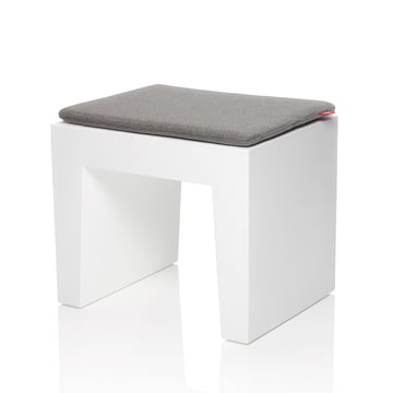 Fatboy - Concrete Seat, weiss, Kissen graphit-grau