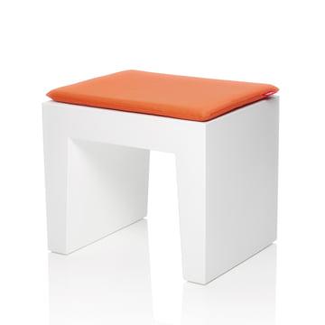 Fatboy - Concrete Seat, weiss, Kissen mandarin-orange