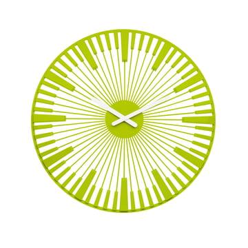 Koziol - Piano Wanduhr, grün