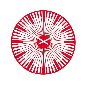 Koziol - Piano Wanduhr, rot