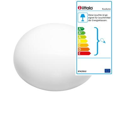 Iittala - Kuukuna Lampe 220 x 190 x 200 mm, weiss