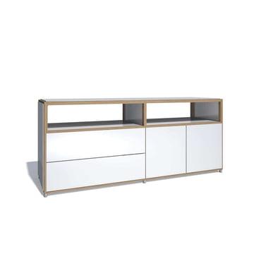 Flötotto - ADD Sideboard, 2 Türen, 2 Schubladen, Melamin weiss