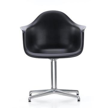 Eames Plastic Armchair DAL von Vitra in schwarz mit Filzgleitern