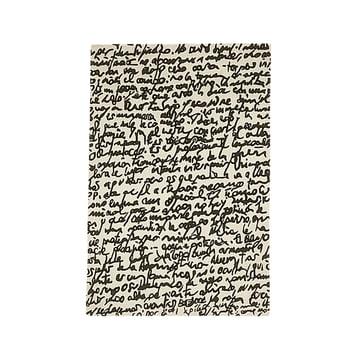 "nanimarquina - Black on white Teppich ""Manuscrit"" 170x240 cm"