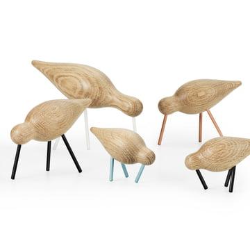 Shorebirds aus Eichenholz und Stahl