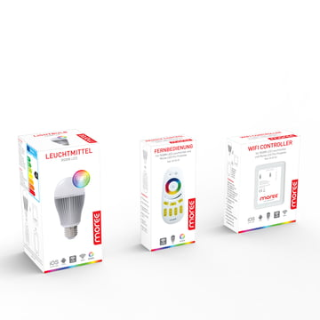 Moree - 9W RGBW Multicolor LED + Fernbedienung + WIFI Controller