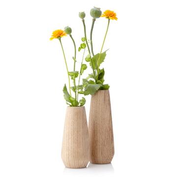 Applictata - Torso Vasen, Eiche, Blumen