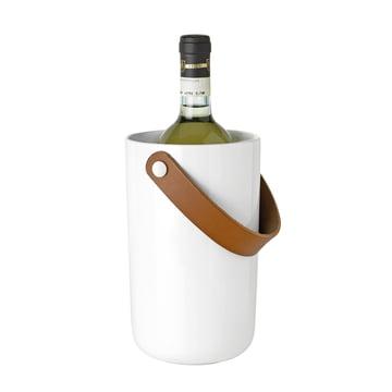 Stelton - Glacier Weinkühler, weiss, mit Flasche