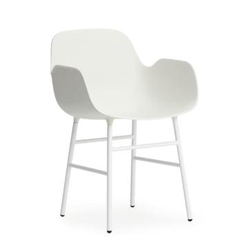 Form Armlehnstuhl (Stahl) von Normann Copenhagen in Weiß