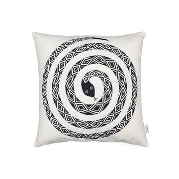 Vitra - Graphic Print Pillow - Snake 40 x 40 cm, schwarz