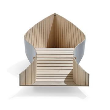 Müller Möbelwerkstätten - KOii Liege, blassgrau, Unterseite
