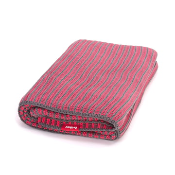 Fatboy - Klaid Decke, dunkelgrau / neon-pink
