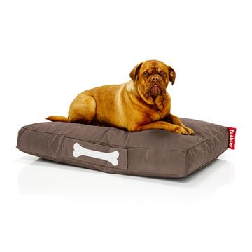 Fatboy - Doggielounge Stonewashed, large, braun, mit Hund