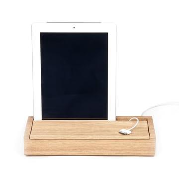 Objekten - Dock Box, Eiche hell, Tablet