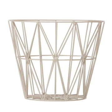 ferm Living - Wire Basket Medium, grau