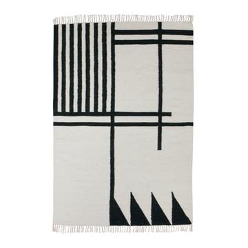 ferm living - Kelim Rug, black lines, gross