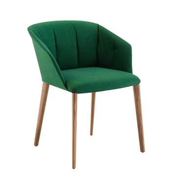 Zanotta - Liza Armsessel 2271, Eiche / grün