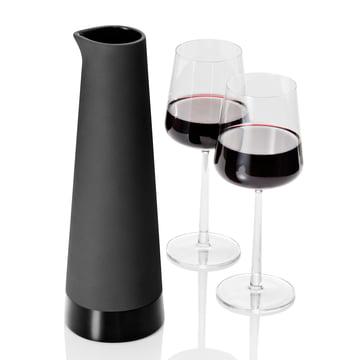 Magisso - Karaffe, schwarz, 2 Gläser Wein