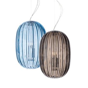 Foscarini - Plass Hängeleuchte, grau, azurblau