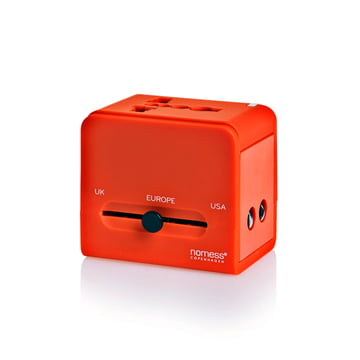 Nomess - Travel Adapter, rot