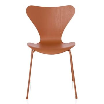 Fritz Hansen - Serie 7 Stuhl, Monochrom Chevalier orange, 46.5 cm