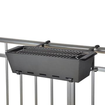 BBQ - Bruce Balkon-Geländergrill, schwarz