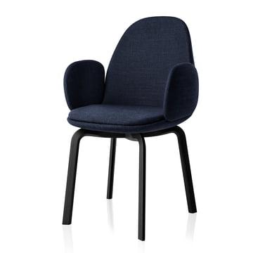 Fritz Hansen - Sammen Armlehnstuhl 45.5 cm, blau