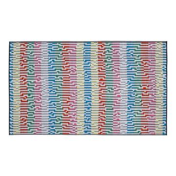 Mini White Waves Strandtuch 100 × 180 cm von Zuzunaga