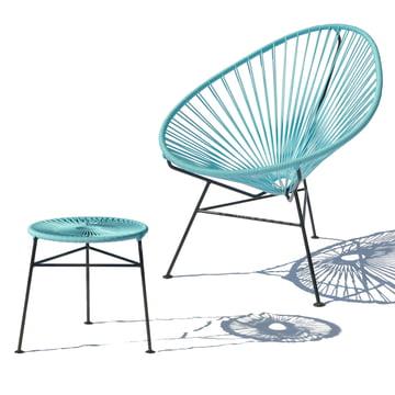 OK Design - Centro Stool, hellblau / Acapulco Chair, hellblau