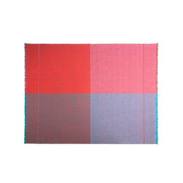 Quaternio Red Wolldecke 140 × 180 cm von Zuzunaga