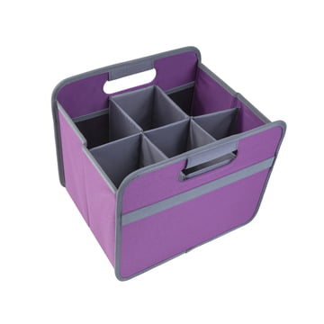 meori - Sixpack, grau / Klassiker Faltbox 15 Liter, mitternacht magenta
