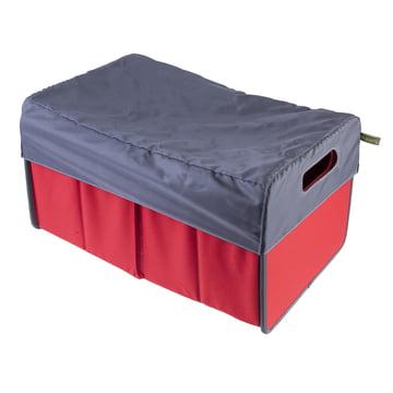 meori - Haube 30 Liter, grau / Klassiker Faltbox 30 Liter, Hibiskus Rot Uni