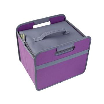 meori - Kühler, grau / KLASSIKER Faltbox 15 Liter, Mitternacht magenta