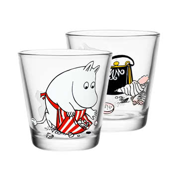 Iittala - Mumin Trinkglas 21 cl, Moominmamma on the Shore