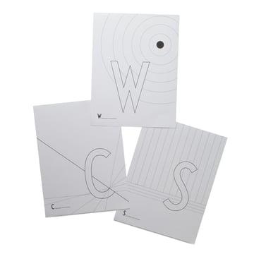 AJ Malbuchseiten C, S und W von Hersteller Design Letters