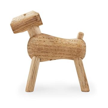 Kay Bojesen's Hund Tim aus hellem Holz