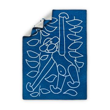 Kay Bojesen - Kinderdecke mit Affe im Urwald in blau