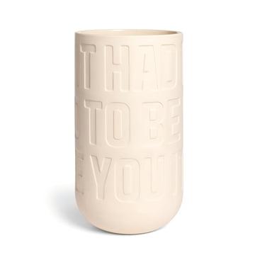 Kähler Design - Love Song Vase H 300 in Kalkweiss